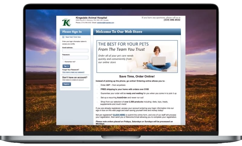 Kingsdale animal hospital online store
